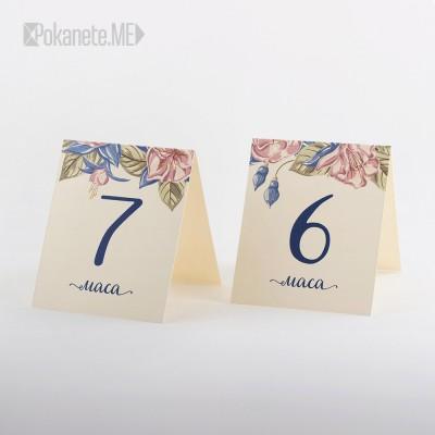 Номера за сватбени маси SecretGarden