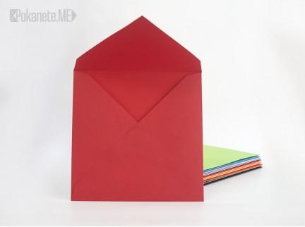 Квадратен плик за писмо - червен