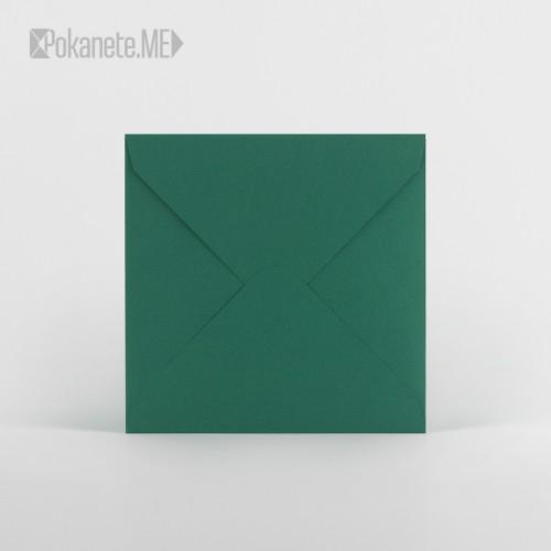 Цветен плик - тъмно зелен