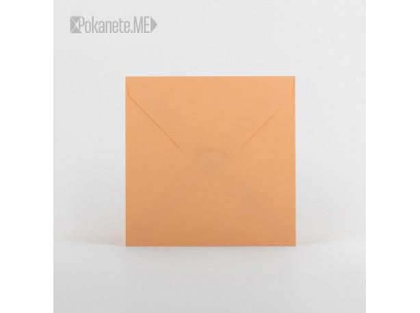 Цветен квадратен плик - кайсия