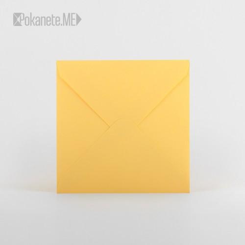 Квадратен плик - жълт