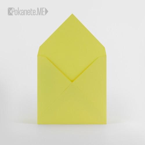 Квадратен плик за писмо IQ - лимонено жълто