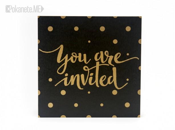 Покана за рожден ден GOLD&BLACK
